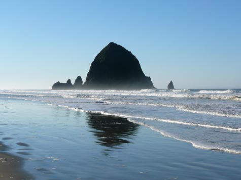 The Haystack rock in Cannon Beach